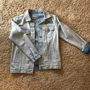 Rails denim jacket with patches